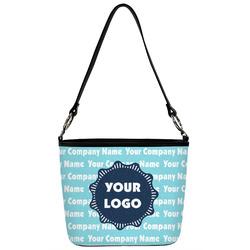 Logo & Company Name Bucket Bag w/ Genuine Leather Trim (Personalized)
