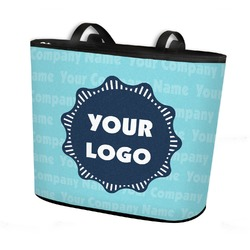 Logo & Company Name Bucket Tote w/ Genuine Leather Trim (Personalized)