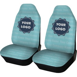 Logo & Company Name Car Seat Covers (Set of Two) (Personalized)