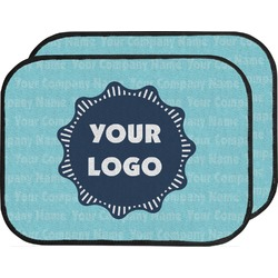 Logo & Company Name Car Floor Mats (Back Seat) (Personalized)