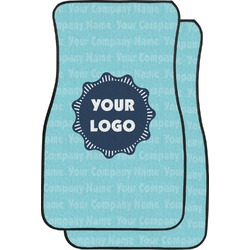 Logo & Company Name Car Floor Mats (Front Seat) (Personalized)