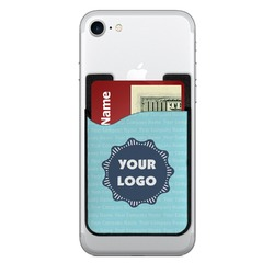 Logo & Company Name Cell Phone Credit Card Holder (Personalized)