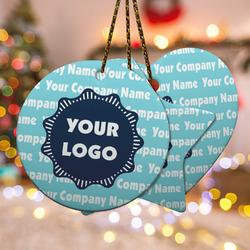 Logo & Company Name Ceramic Ornament