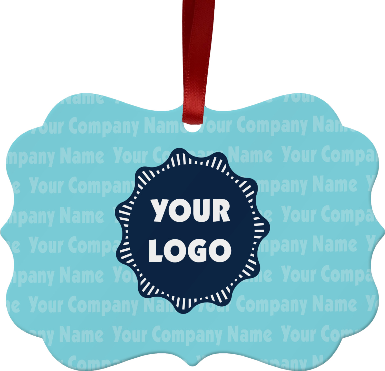 Company Logo Christmas Ornaments: Logo & Company Name Ornament (Personalized)