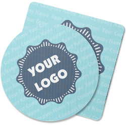 Logo & Company Name Rubber Backed Coaster (Personalized)