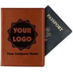 Logo & Company Name Leatherette Passport Holder (Personalized)