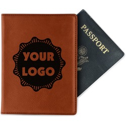 Logo & Company Name Leatherette Passport Holder (Personalized)