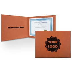 Logo & Company Name Leatherette Certificate Holder (Personalized)