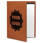 Logo & Company Name Leatherette Portfolio with Notepad (Personalized)