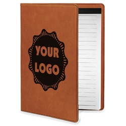 Logo & Company Name Leatherette Portfolio with Notepad - Small - Single Sided (Personalized)