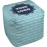 Logo & Company Name Cube Pouf Ottoman (Personalized)