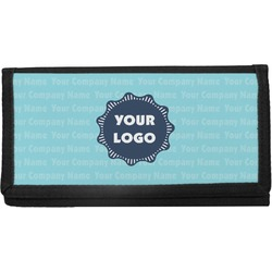 Logo & Company Name Canvas Checkbook Cover (Personalized)