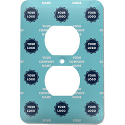 Logo & Company Name Electric Outlet Plate