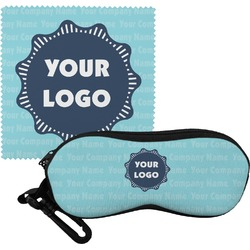 Logo & Company Name Eyeglass Case & Cloth (Personalized)