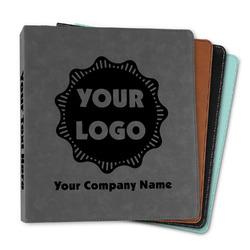 "Logo & Company Name Leather Binder - 1"""