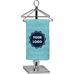 Logo & Company Name Finger Tip Towel - Full Print (Personalized)