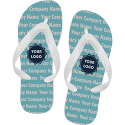 Logo & Company Name Flip Flops (Personalized)