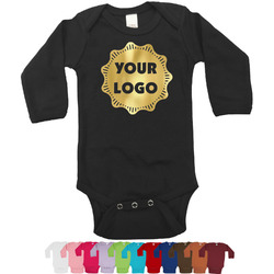 Logo & Company Name Foil Bodysuit - Long Sleeves - Gold, Silver or Rose Gold (Personalized)
