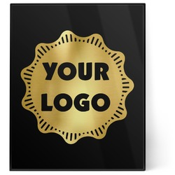 Logo & Company Name 8x10 Foil Wall Art - Black (Personalized)