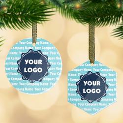 Logo & Company Name Flat Glass Ornament