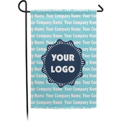 Logo & Company Name Garden Flag - Single or Double Sided (Personalized)