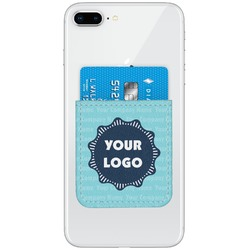 Logo & Company Name Genuine Leather Adhesive Phone Wallet (Personalized)
