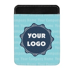 Logo & Company Name Genuine Leather Money Clip (Personalized)