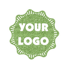 Logo & Company Name Glitter Iron On Transfer- Custom Sized (Personalized)