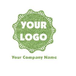 Logo & Company Name Glitter Iron On Transfer- Custom Sized (Personalized)