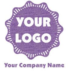 Logo & Company Name Glitter Sticker Decal - Custom Sized (Personalized)