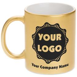 Logo & Company Name Gold Mug