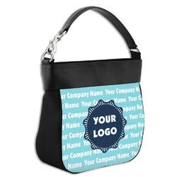 Logo & Company Name Hobo Purse w/ Genuine Leather Trim (Personalized)