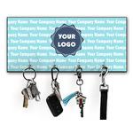 Logo & Company Name Key Hanger w/ 4 Hooks