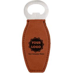 Logo & Company Name Leatherette Bottle Opener (Personalized)