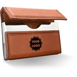 Logo & Company Name Leatherette Business Card Case (Personalized)