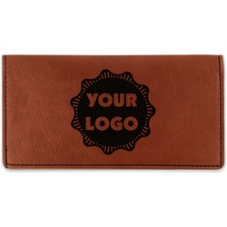 Logo & Company Name Leatherette Checkbook Holder (Personalized)