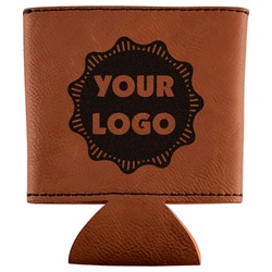 Logo & Company Name Leatherette Can Sleeve (Personalized)