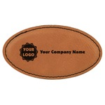 Logo & Company Name Leatherette Oval Name Badge with Magnet (Personalized)