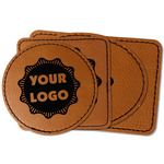 Logo & Company Name Faux Leather Iron On Patch