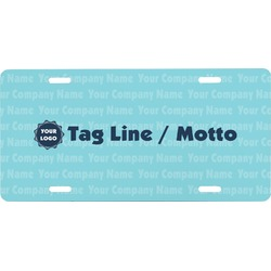 Logo & Company Name Front License Plate (Personalized)