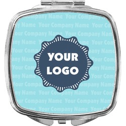 Logo & Company Name Compact Makeup Mirror (Personalized)
