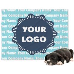 Logo & Company Name Minky Dog Blanket - Large  (Personalized)