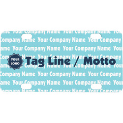 Logo & Company Name Mini / Bicycle License Plate (Personalized)