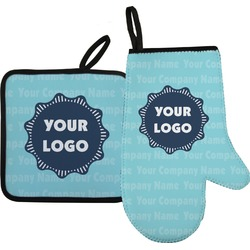 Logo & Company Name Oven Mitt & Pot Holder (Personalized)