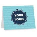 Logo & Company Name Note cards (Personalized)