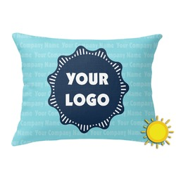 Logo & Company Name Outdoor Throw Pillow (Rectangular) (Personalized)