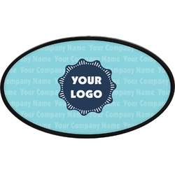 Logo & Company Name Oval Trailer Hitch Cover (Personalized)