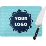 Logo & Company Name Rectangular Glass Cutting Board (Personalized)