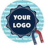 Logo & Company Name Round Fridge Magnet