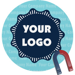Logo & Company Name Round Magnet (Personalized)